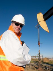 Oil Pumpjack Worker Photo