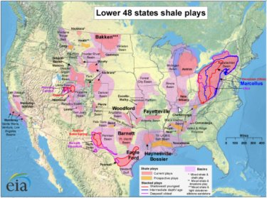 Natural Shale Gas Jobs Map image